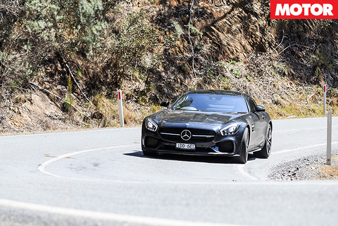 Mercedes gt driving front