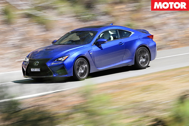 Lexus rcf driving