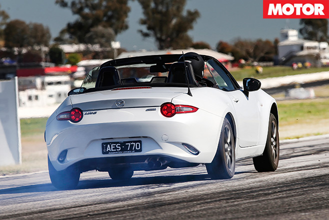 Mazda mx-5 rear take off
