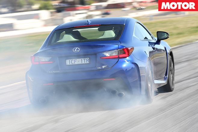Lexus rc f rear burnout