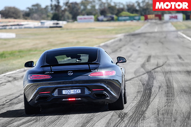 Merecedes-amg gt s driving