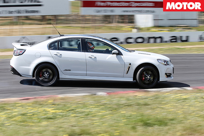 Holden commodore cornering
