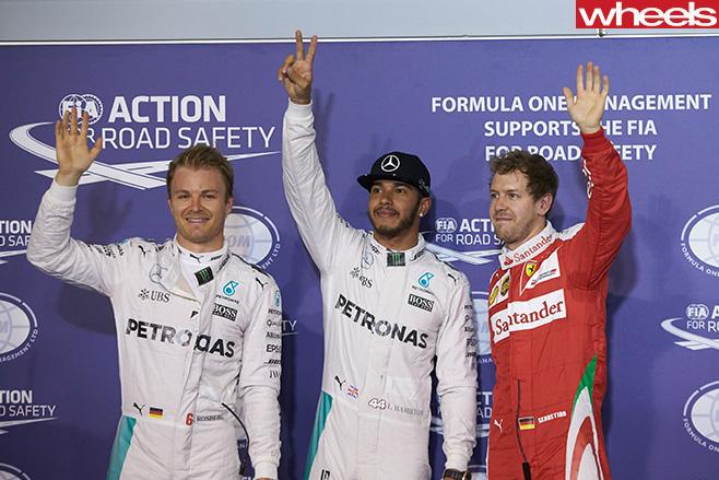 F1-Podium -Rosberg
