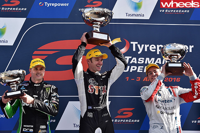 V8-Supercar -Podium