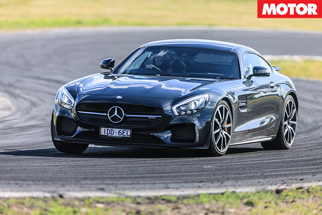 Mercedes amg gt s front turning