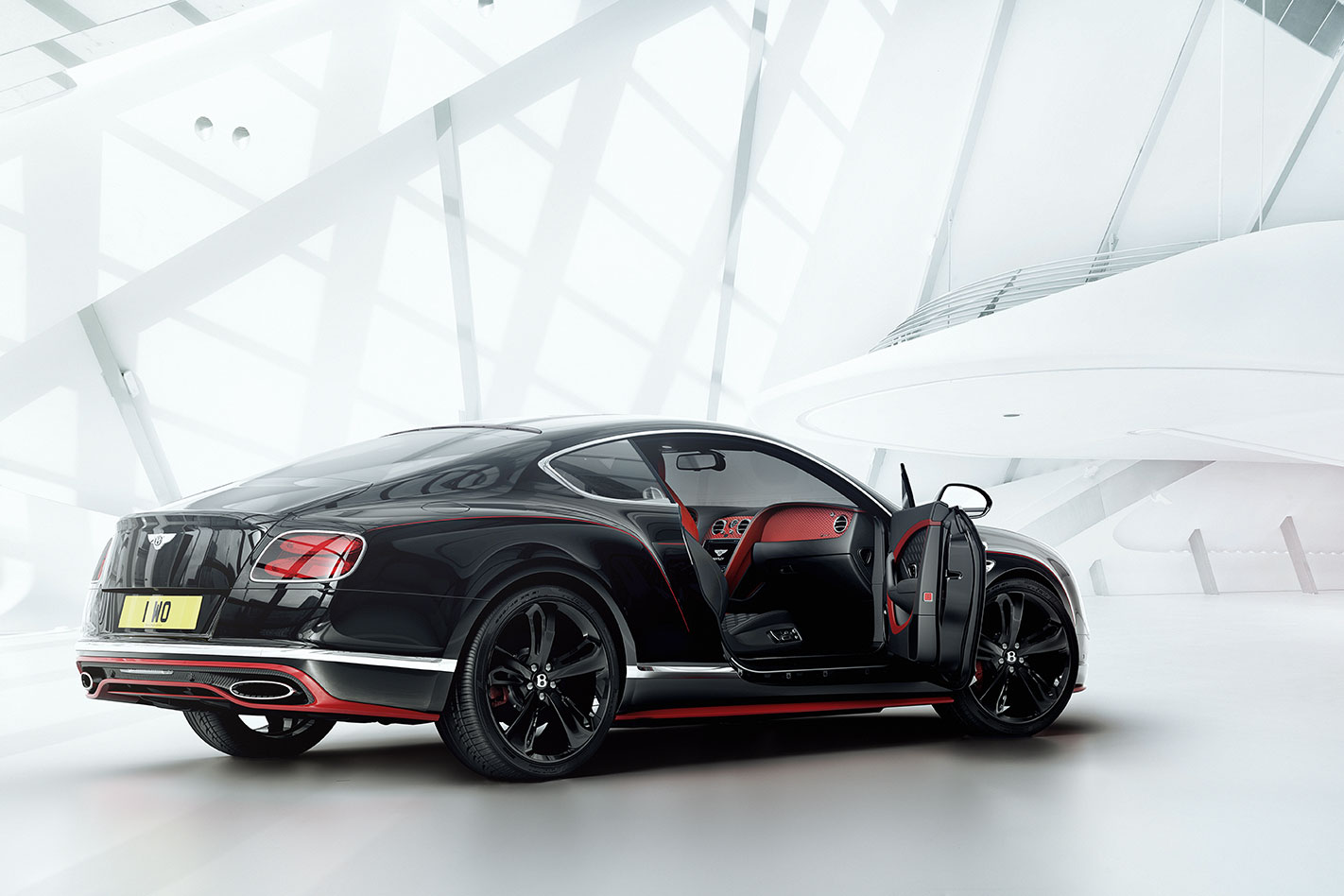 Bentley -Continental -GT-Black -Speed -rear