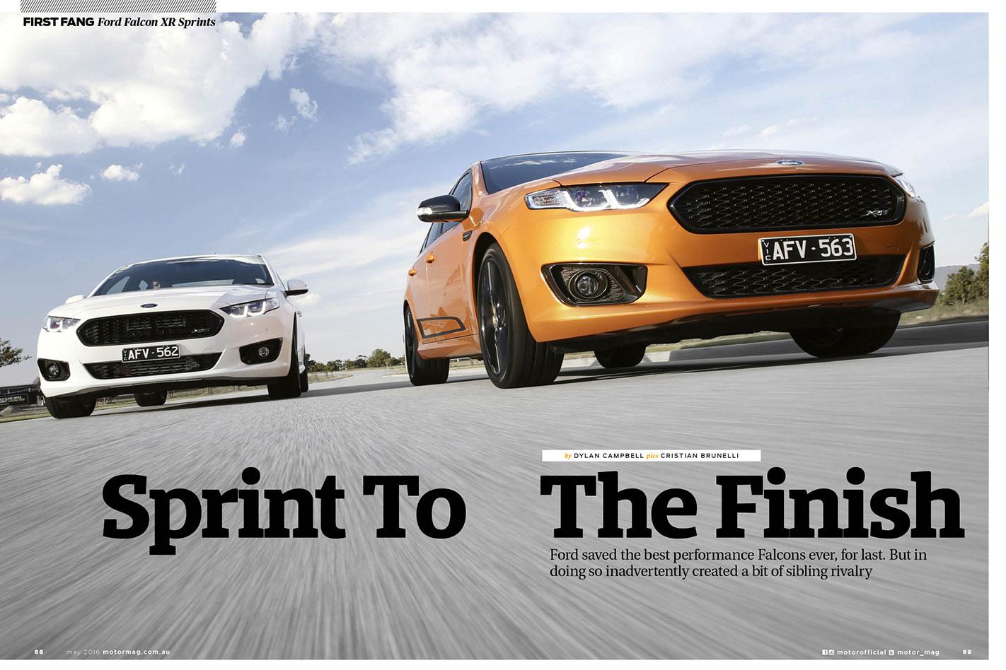 Ford -Falcon -Sprints -driven