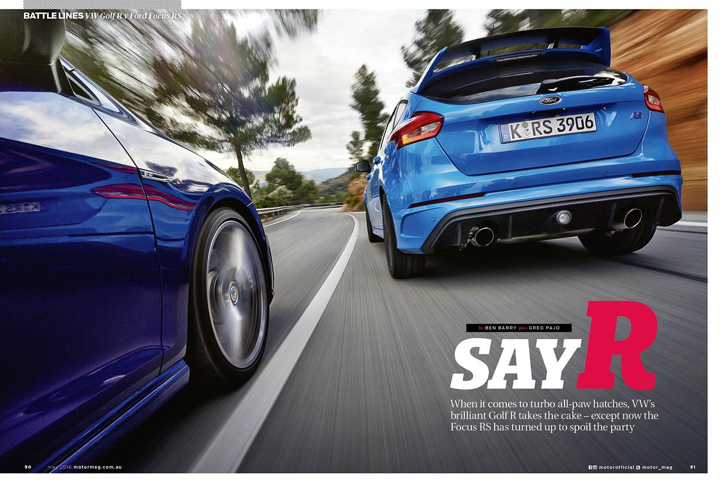 VW-Golf -R-vs -Ford -Focus -RS