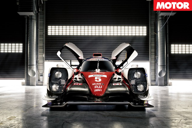 Toyota TS050 LMP1 racer front