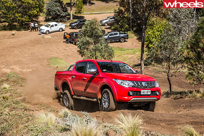Mitsubishi -Triton -with -competitors