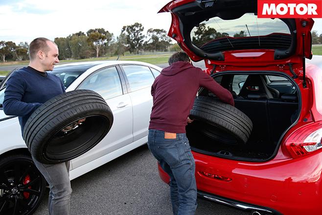 Bringing extra tyres