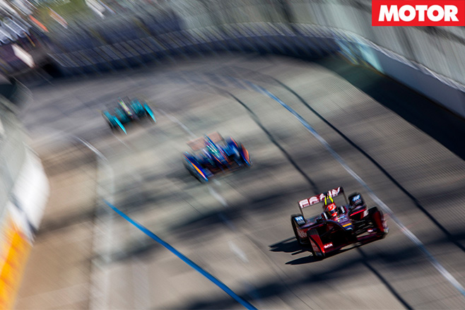 Formula E Cars on the track