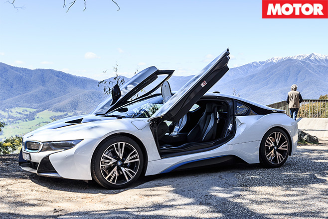 BMW i8 gullwing doors