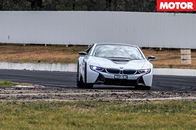 BMW i8 driving turning