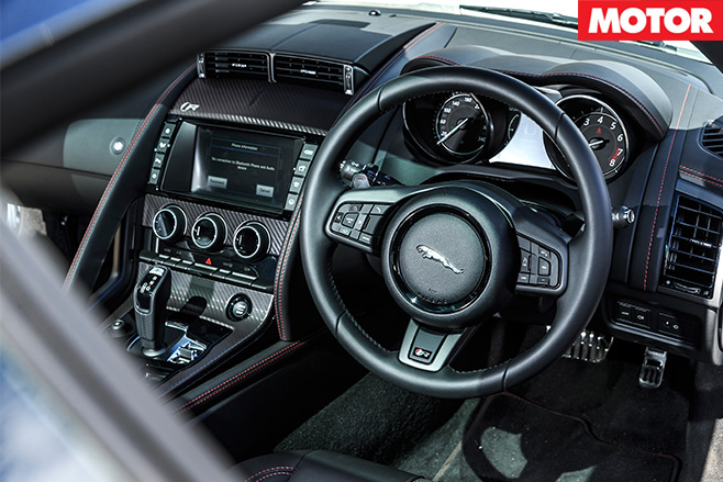 Jaguar F-type r awd interior