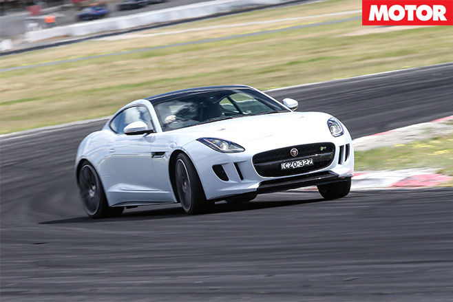 Jaguar F-type r awd turning