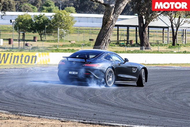 Mercedes-AMG GT S burnout