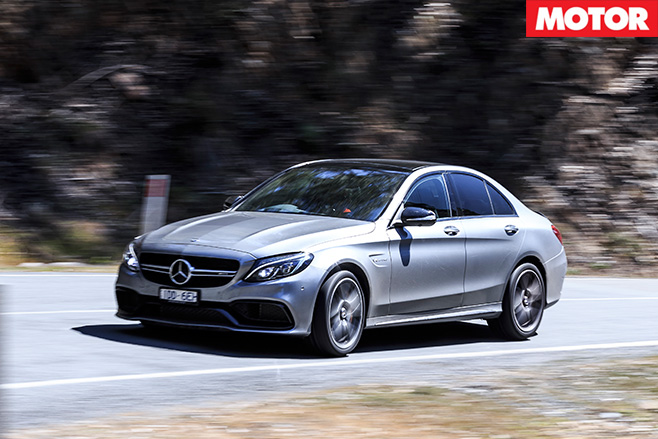 Mercedes-AMG C63 S front driving