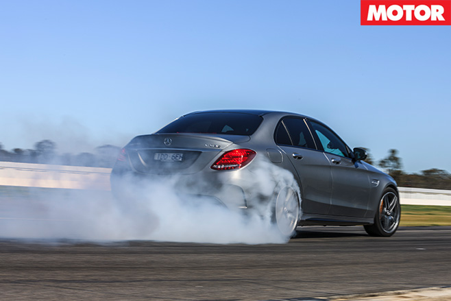 Mercedes-AMG C63 S burnout