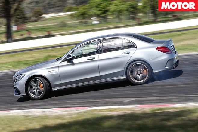 Mercedes-AMG C63 S drifting