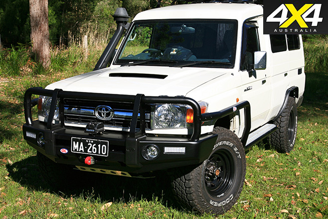 Opposite Lock Bullbar on Land cruiser