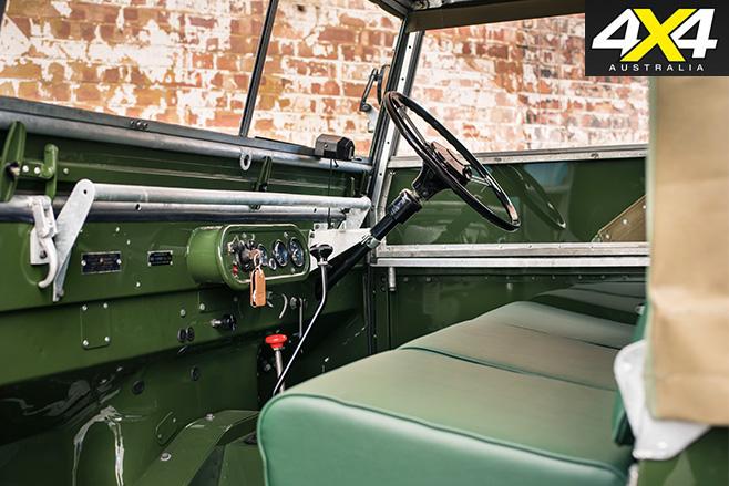 Land Rover Classic Reborn interior