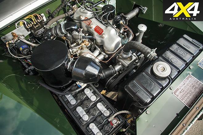 Land Rover Classic Reborn engine