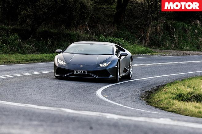 Lamborghini Huracan front turning