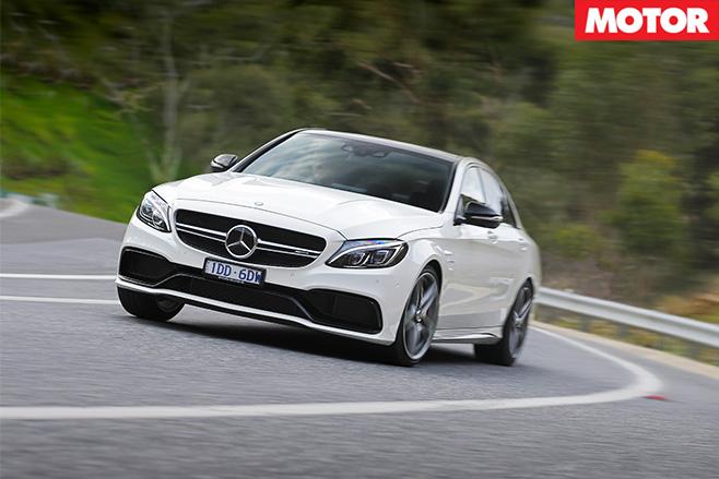 Mercedes-AMG C63 S cornering
