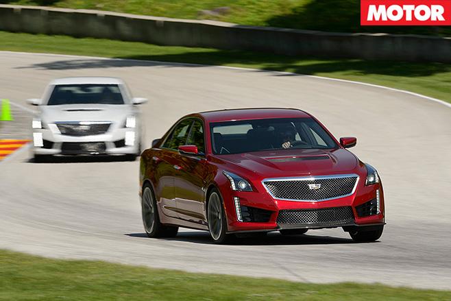 Cadillac CTS-V driving