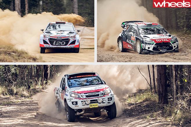 Isuzu -D-Max -Rally -Hyundai -i 30-Ford -Focus