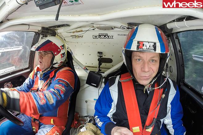 Andy -Enright -in -Isuzu -D-Max -Dakar -driving -Wheels -Rally -Australia