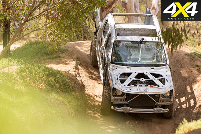 Naked Volkswagen amarok downhill