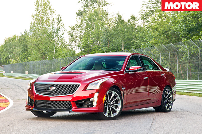 Cadillac CTS-V front side