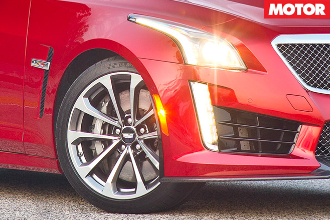 Cadillac CTS-V rear tyres