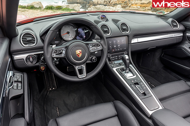 Orange -Porsche -918-Boxster -S-interior