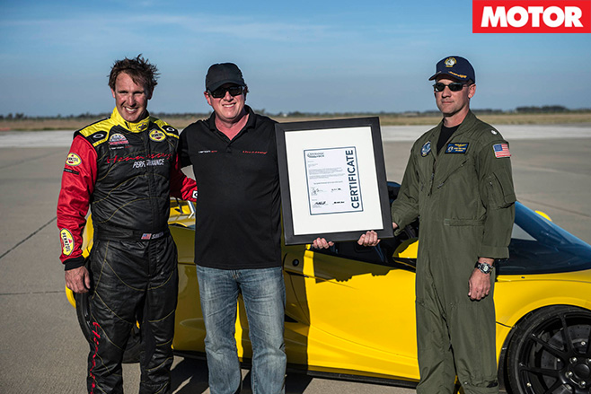 Hennessey claims World's Fastest convertible record