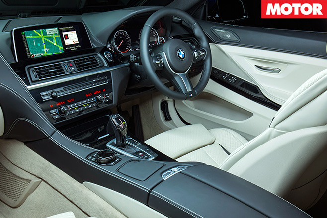BMW 640i Convertible interior