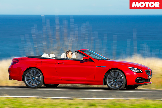 BMW 640i Convertible review side