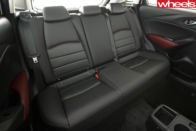 Mazda -CX-3-rear -seats