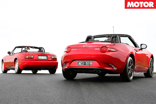 Mazda MX-5 new vs old rear