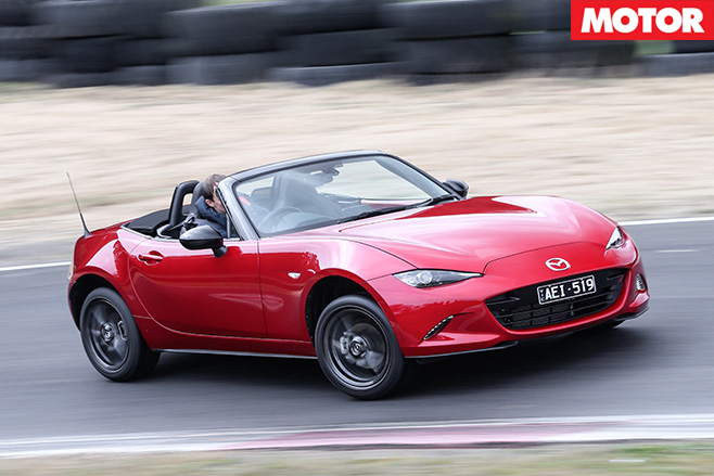 New mazda mx-5 driving
