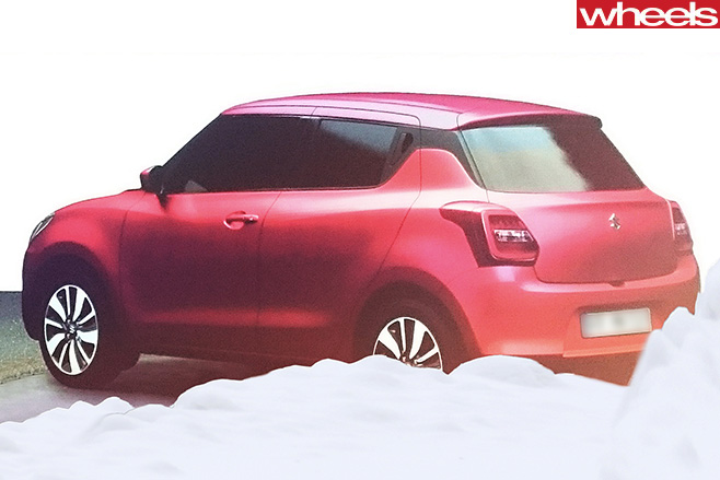 Suzuki -Swift -Spy -pic -pink -rear -side