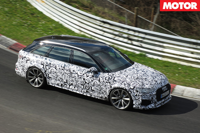 Audi -RS4-spied -testing
