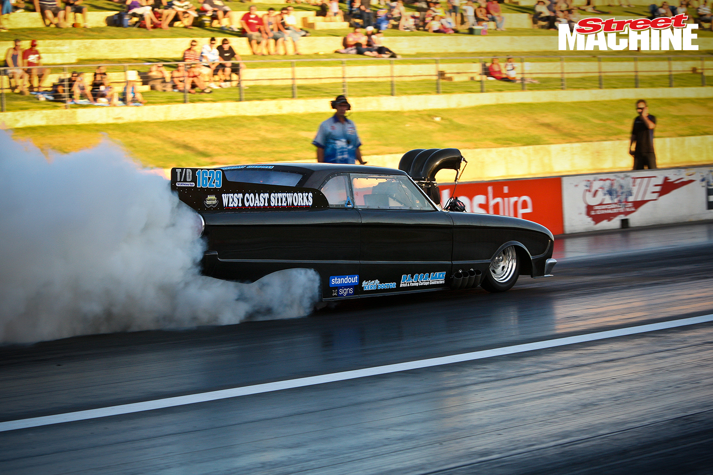 Funny Car Burnout Perth Motorplex