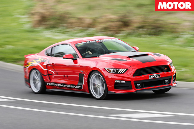 Roush R627 driving fast