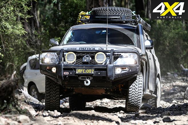 Custom Y62 Nissan Patrol dirt driving