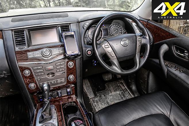 Custom 4x4 Y62 Nissan Patrol interior