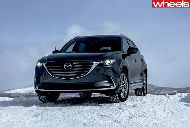 Mazda -CX-9-front -snow