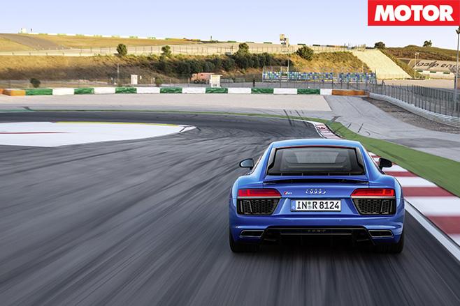 Audi R8 V10 rear driving